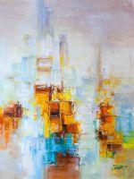 Абстракция. Разноцветный мегаполис