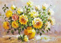 Букет с желтыми розами