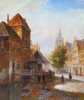 Старая голландская улица. Подражая Виллему Куккуку. N9