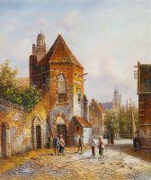 Старая голландская улица. Подражая Виллему Куккуку. N10