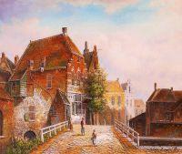 Старая голландская улица. Подражая Виллему Куккуку. N11