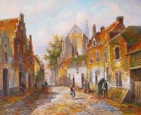 Старая голландская улица. Подражая Виллему Куккуку. N12