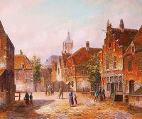 Старая голландская улица. Подражая Виллему Куккуку. N13