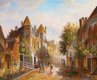 Старая голландская улица. Подражая Виллему Куккуку. N14