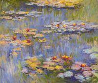 Водяные лилии, N25, копия картины Клода Моне