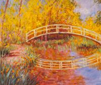 Копия картины Японский мостик (Мостик в саду Моне), 1895-1896