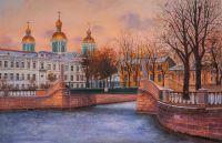 Санкт-Петербург. Морозный закат