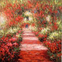 Вольная копия картины Клода Моне Дорожка в саду