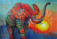 Слон. Встречая солнце