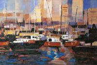 Лодки. Красный тон