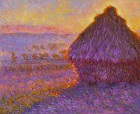 Копия картины Клода Моне Стог сена на закате возле Живерни
