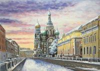 Санкт-Петербург зимой. Вид на Храм Воскресения Христова на Крови