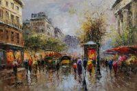 A view of the flower market at Place de la Madeleine Вид на цветочный рынок на площади Мадлен, А.Бланшар