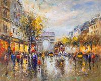 Champs Elysees, Arc de Triomphe, копия картины А.Бланшара
