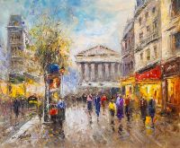 Paris, Rue Tronchet, копия картины А.Бланшар