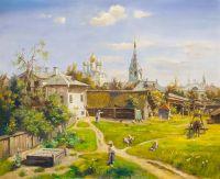 Московский дворик (Копия картины В. Д. Поленова)