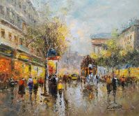 Boulevard de La Madeleine (копия картины А.Бланшара)
