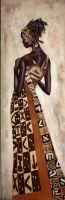 Портрет девушки. Африканские мотивы
