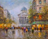 Пейзаж Парижа Антуана Бланшара Place Du Luxembourg Le Pantheon