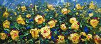 Желтые розы. Триптих
