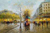 Пейзаж Парижа Антуана Бланшара. Boulevard Haussmann