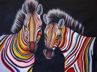 Разноцветные зебры N6