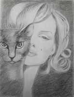 """Мэрилин и кошка"""