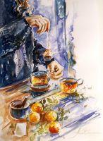 Чай и цитрусовые