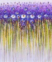 Синие цветы. Абстракция
