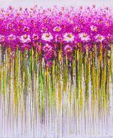 Розовые цветы. Абстракция