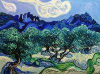 Копия Ван Гог Оливы, голубое небо и белое облако