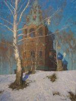 Церковь в с. Черкизово. Март