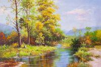 Летом у ручья