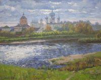 Тихвинский монастырь. Осень