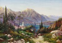 Копия картины И. Вельца. Вид Северной Италии