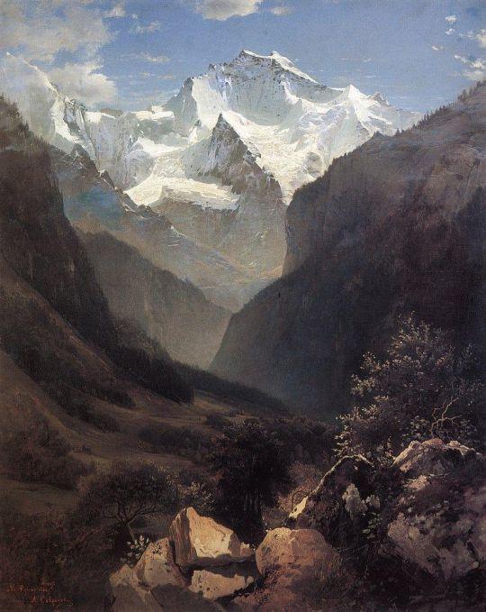 Вид в Швейцарских Альпах (Гора Малый Рухен)