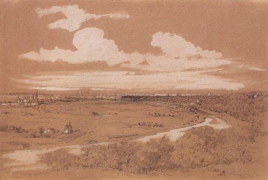 Вид Москвы с Воробьевых гор