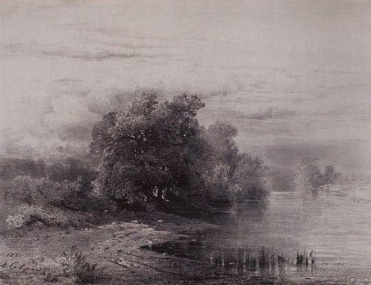 Деревья у реки