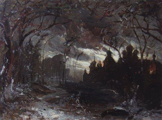 Ипатьевский монастырь в зимнюю ночь