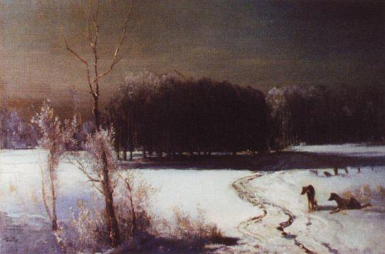 Пейзаж с волками