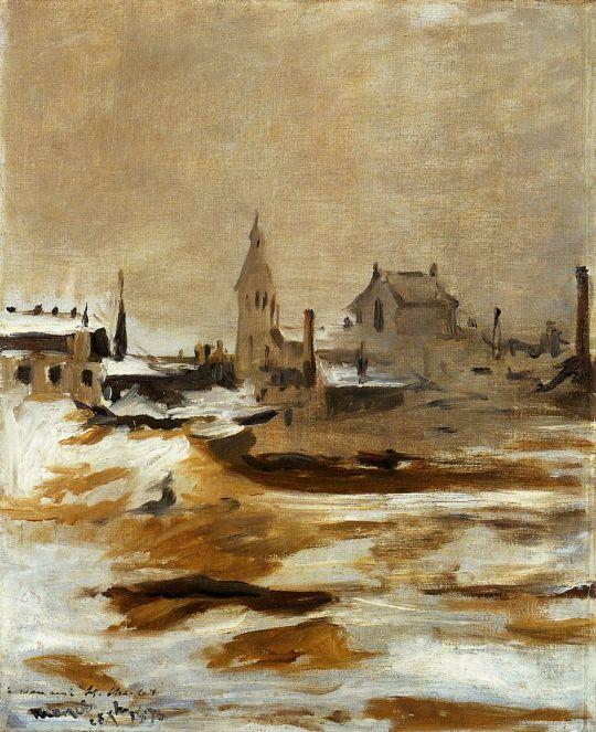 После снегопада в Пёти-Монруж
