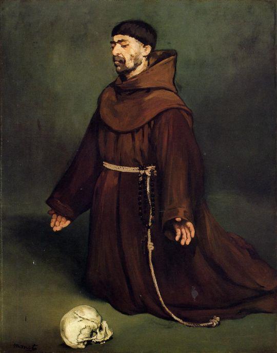 Монах на молитве