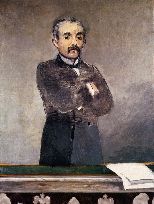 Портрет Клемансо за кафедрой