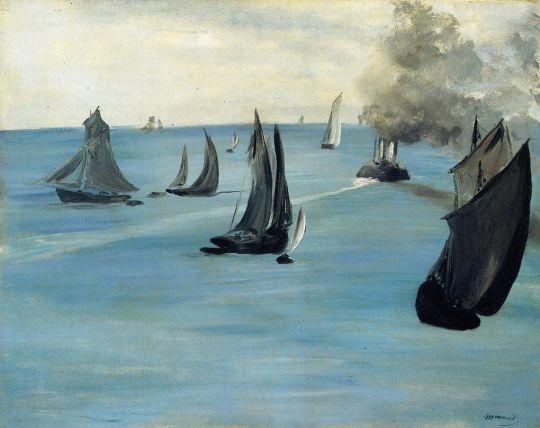 Пароход (также известна как Морской пейзаж, штиль)