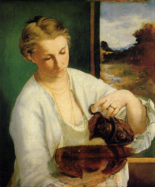 Женщина с кувшином (также известна как Портрет мадам Мане с кувшином)