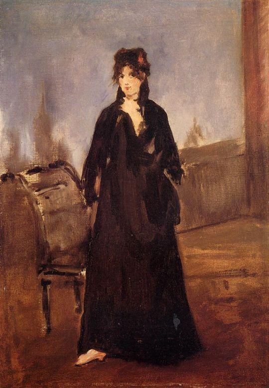 Девушка в розовой туфельке(также известна как Портрет Берты Моризо)