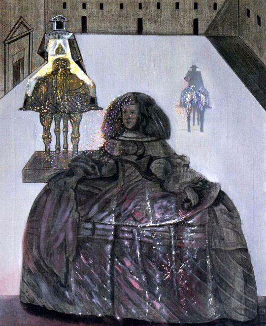 Инфанта Маргарита, появляющаяся на силуэтах некоторых кавалеров во внутреннем дворе Эскориала