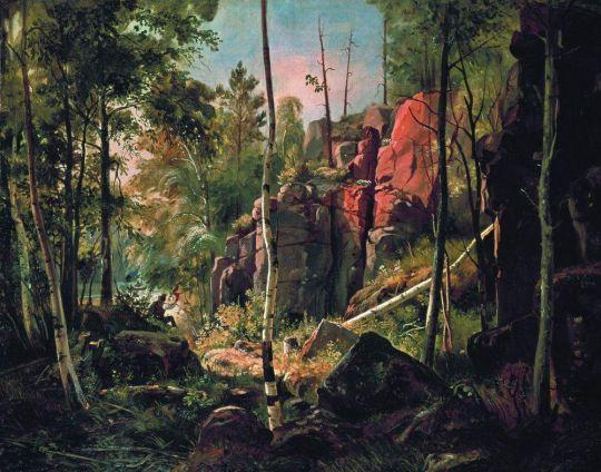 Вид на острове Валааме (Местность Кукко).