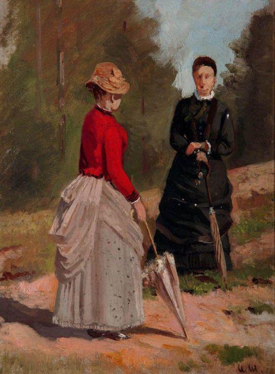 Две женские фигуры.