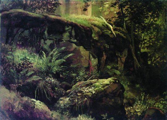 Камни в лесу. Валаам. Между
